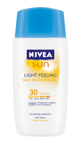 NIVEA SUN LIGHT FEELING FACE FLUID SPF 30 50ml Height: 10cm