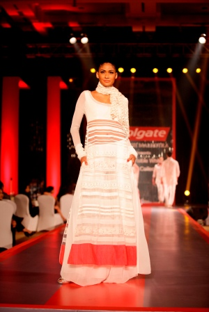 Model in Manish Malhotra's Visible White Collection